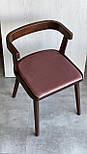 Дизайнерський стілець із натурального дерева, фото 4