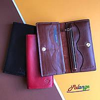 Шкіряне портмоне на кнопці з глянсової шкіри, фото 2