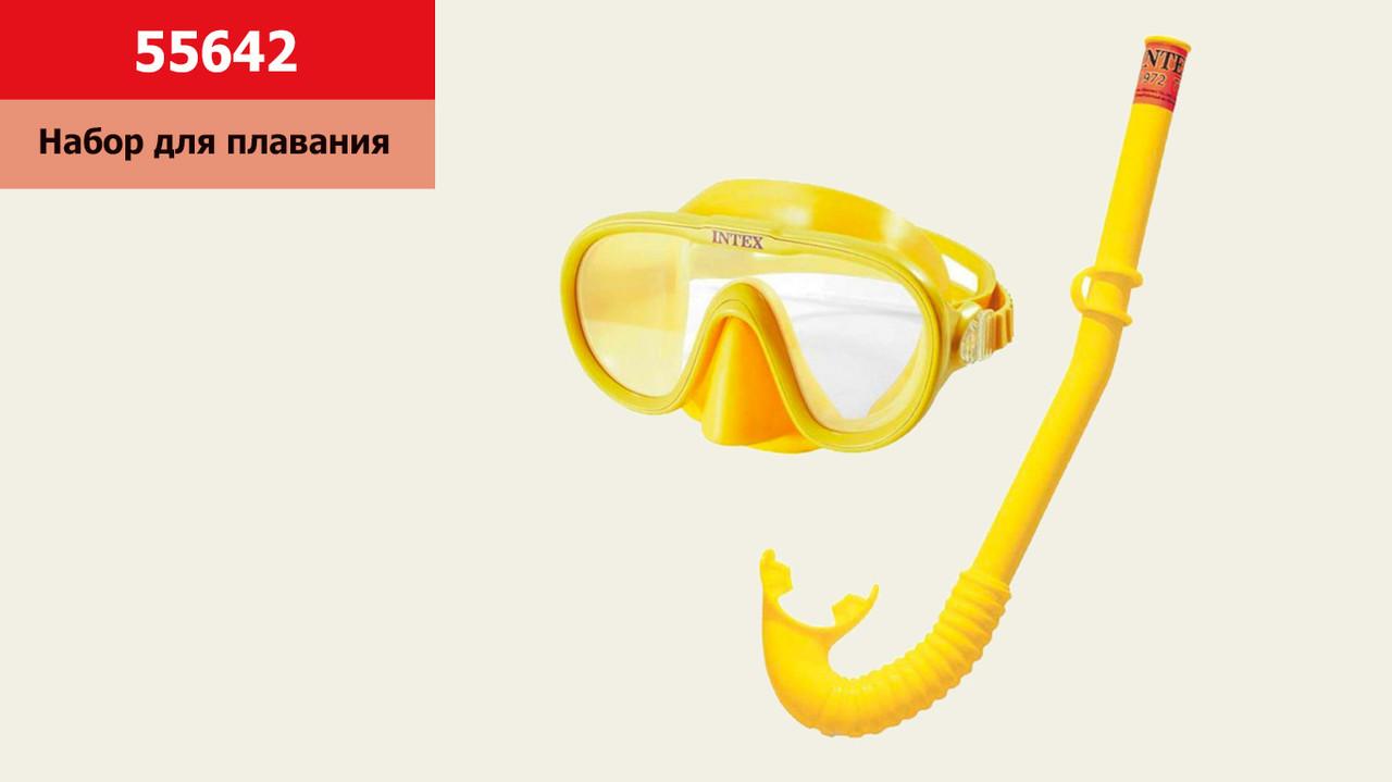 Набір для плавання INTEX 55642 (6шт) трубка та маска, від 8 років, під слюдою