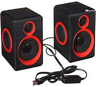 Колонки для ПК компьютера Hotmai HT - 165 красные ( 3244 )