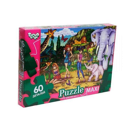 Пазли Danko toys Зоопарк 60 елементів Danko toys (Мх60-08-16)