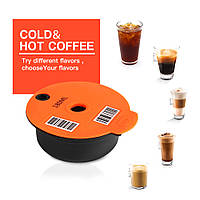 Капсула многоразовая для кофеварки (кофемашины) Bosch Tassimo с дозировкой (шрихкодом) на 60мл и 180мл + ложка
