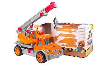 """Іграшка """"Автокран ТехноК"""" 3695 (4шт) у коробці 57×30×26 см"""