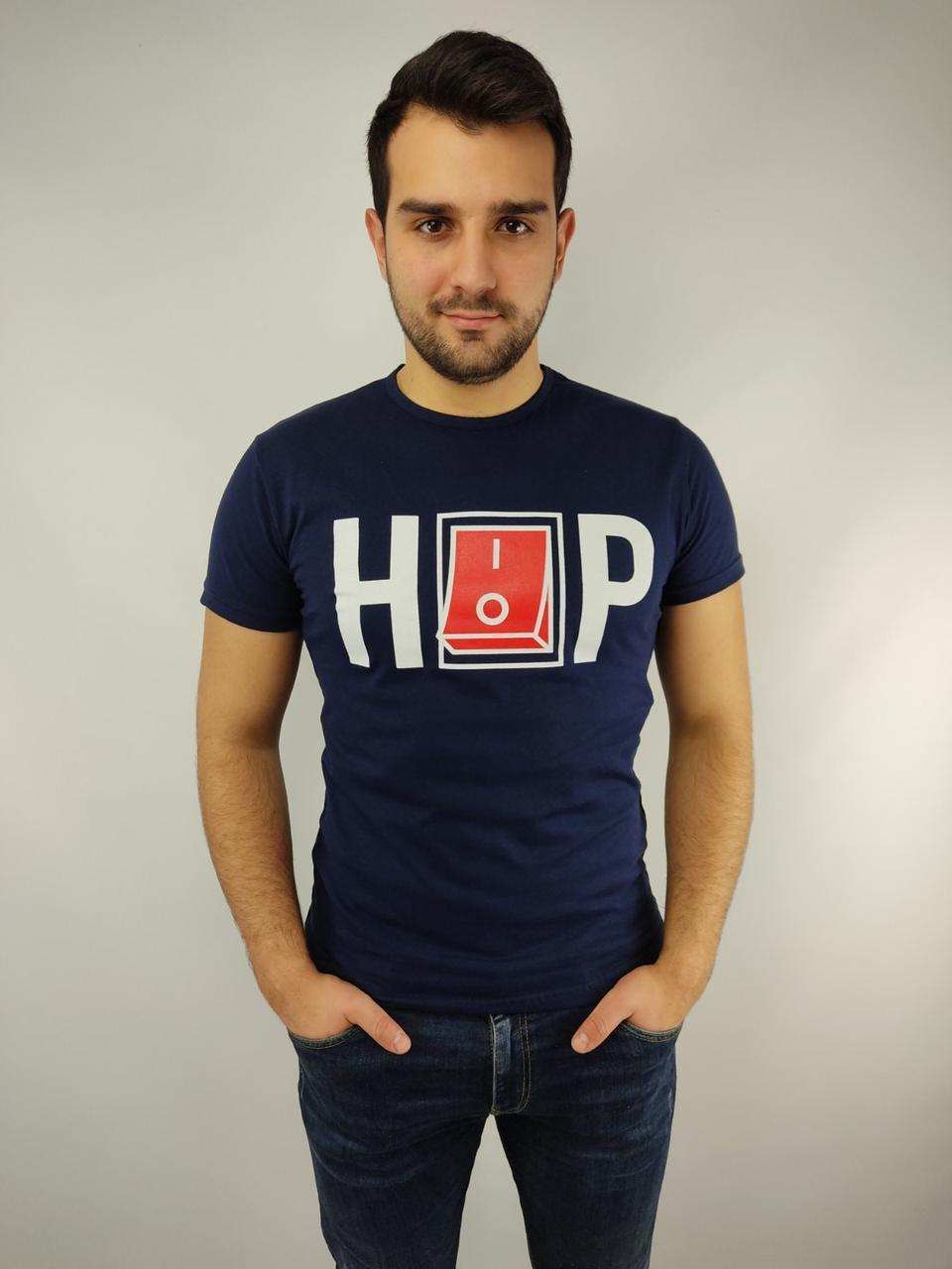Чоловіча футболка норма 46-52рр, HIP-HOP, синій