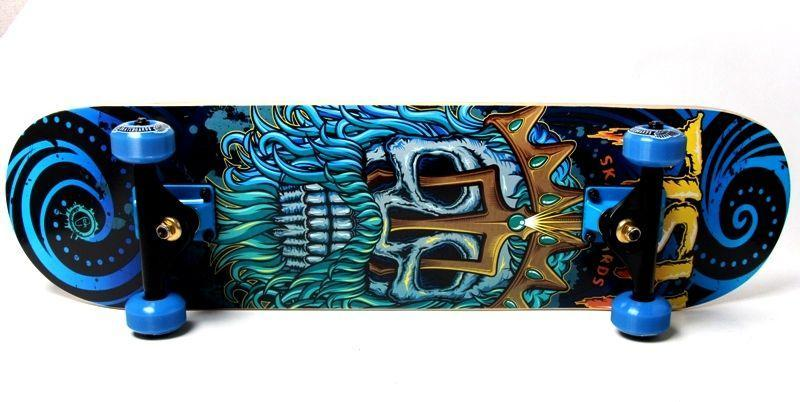 "Скейт дерев'яний ""FISH SKATEBOARD NEPTUNE"" SD05 (6шт) колеса PU, у пак."