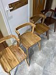 Дизайнерський стілець із натурального дерева, фото 6