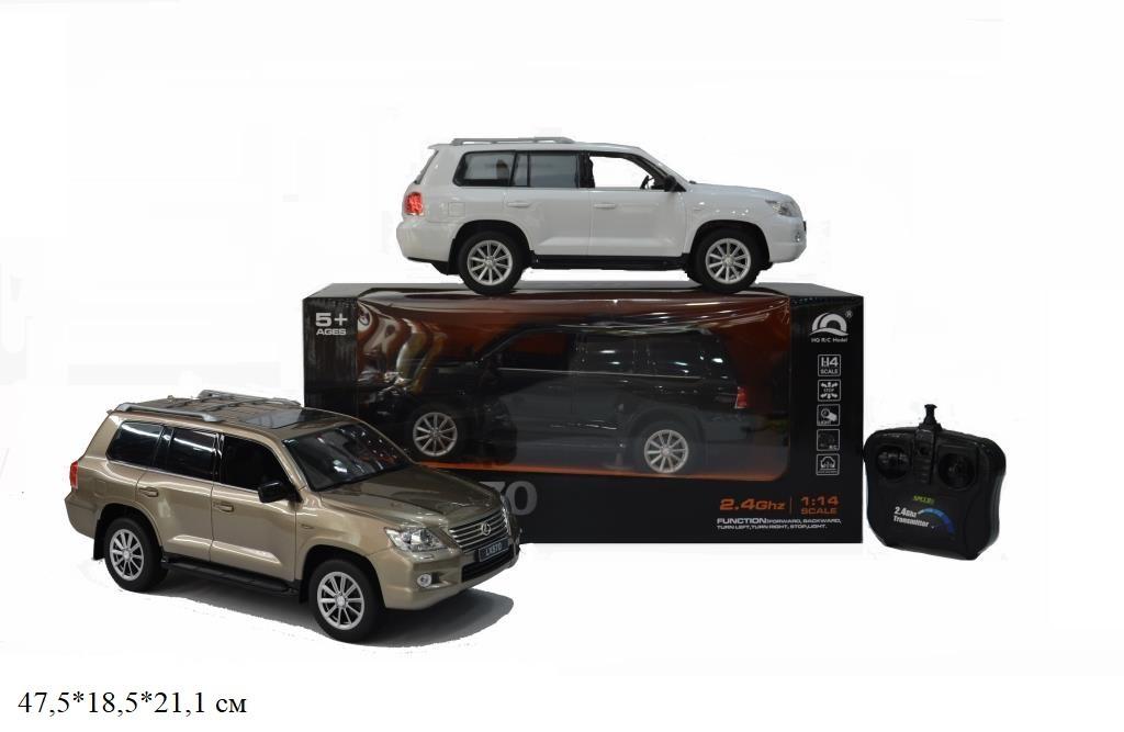 Акумуляторна Машина джип на р/к HQ200125 Lexus LX570 (12шт/2) світиться 2 віді у коробці 47,5*18,5*2