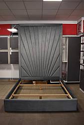 Современная кровать в ткани с мягким изголовьем 1600*2000