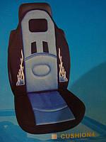 Накидка на сидение Car Seat чёрный с синим огоньки