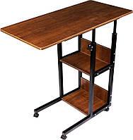 Приліжковий столик на коліщатках для ноутбука модель В22, маленький журнальний столик   столик на колесах