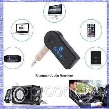 Автомобильный ресивер Bluetooth AUX BT350, аукс блютуз ресивер, адаптер 350BT, ФМ модулятор