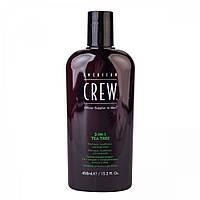 "Средство по уходу за волосами и телом 3-в-1 ""Чайное дерево"" - American Crew Classic 3-in-1 Shampoo,"