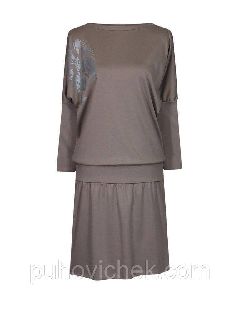 Модное женское платье батал