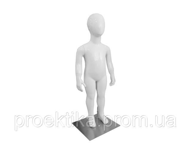 Манекен детский безликий белый глянец
