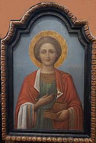 Икона целитель Пантелеймон XIX век