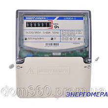 Трехфазный однотарифный электросчетчик (счетчик электроэнергии) ЦЭ 6804-U/1 220/380В 5-60А 3ф. 4пр. МР32