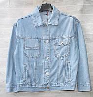 """Куртка жіноча коротка джинсова на гудзиках, розміри S-2XL """"VANVER"""" недорого від прямого постачальника"""