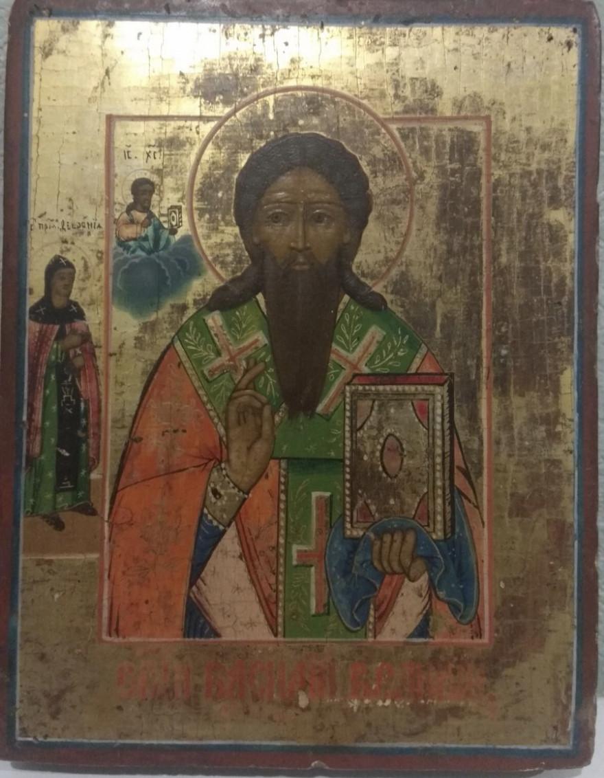 Икона св.Василий Великий 19 век