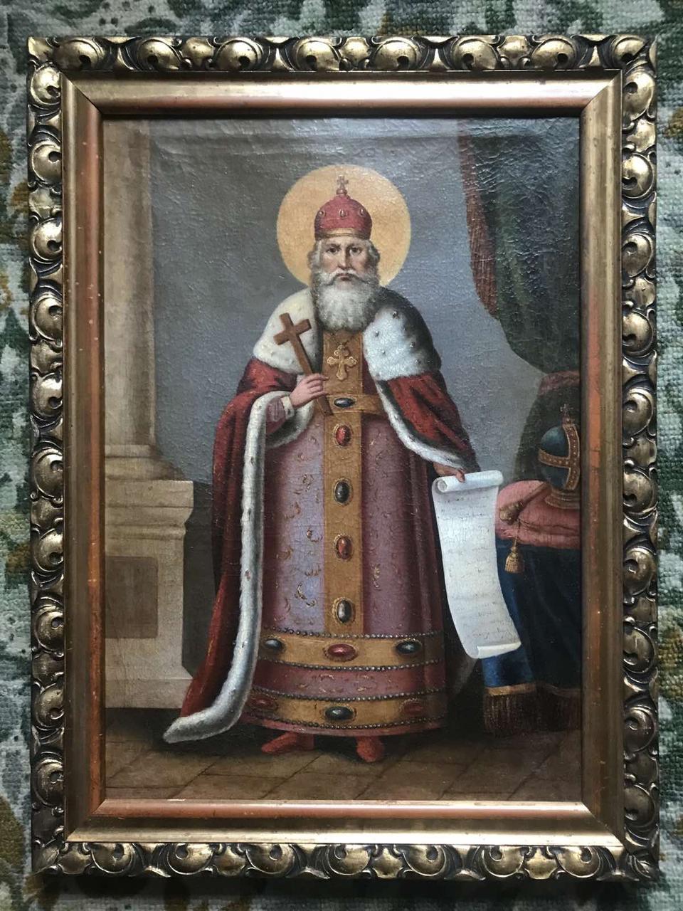 Икона св. князь Владимир 19 век