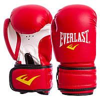 Перчатки боксерские на липучке EVERLAST красные MA-5018 6 унций OF