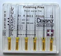 Протейперы маш. F1, уп.6шт, 31мм, А0411, (Protaper), Dentsply Maillefer