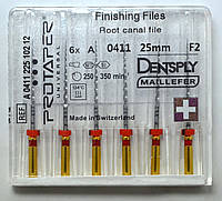 Протейперы маш. F2, уп.6шт, 25мм, А0411, (Protaper), Dentsply Maillefer