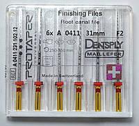 Протейперы маш. F2, уп.6шт, 31мм, А0411, (Protaper), Dentsply Maillefer