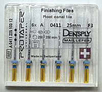 Протейперы маш. F3, уп.6шт, 25мм, А0411, (Protaper), Dentsply Maillefer
