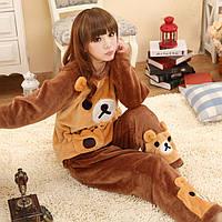 Тедди лапки,теплая пижама,фланель