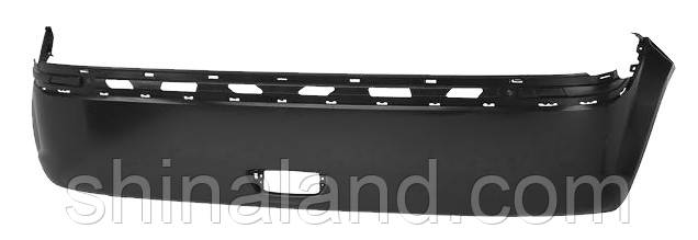 Бампер задній для Hyundai Getz II (рестайлинг) (нижня частина) 2005 - 2011 з отв. п/тум. (Tempest) OE
