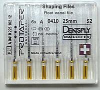 Протейперы маш. S2, уп.6шт, 25мм, А0410, (Protaper), Dentsply Maillefer