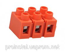 Клеммный блок H2519-3P 36A - 660V, материал медь, сечение провода 0.5-6мм2
