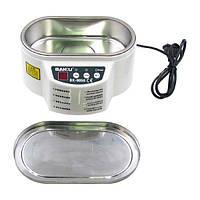 Ультразвуковая ванна BAKKU BK9050 с металлической крышкой (двухрежимная 30W/50W, 0.7L)