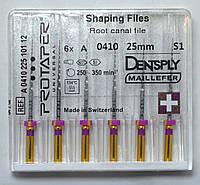 Протейперы маш. S1, уп.6шт, 25мм, А0410, (Protaper), Dentsply Maillefer