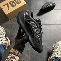 Мужские кроссовки Adidas Yeezy Boost 700 V3 Triple Black / Адидас Изи Буст 700 В3 Трипл Черные