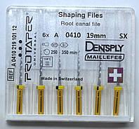 Протейперы маш. SX, уп.6шт, 19мм, А0410, (Protaper), Dentsply Maillefer