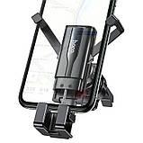Тримач для телефону в авто (в дефлектор) Hoco CA72 Phantom air outlet hidden gravity Black, фото 5