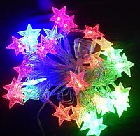 Гирлянда Звездочки для ёлки и светодиодного декора, мульти, 28led