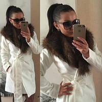 """Пальто женское """"Вамп 45"""" белое,кашемировое пальто"""