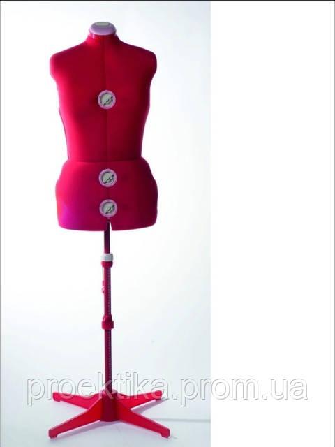 Манекен женский пошивочно-выставочный (50-58р-р) красный