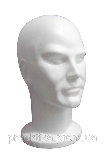 Голова мужская белая, пенополистирол