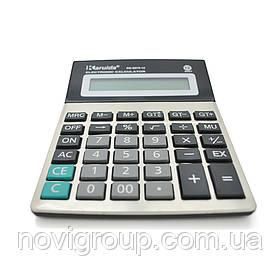 Калькулятор офісний КК-8875-12, 34 кнопки, сріблястий, розміри 190 * 145 * 40мм, Box