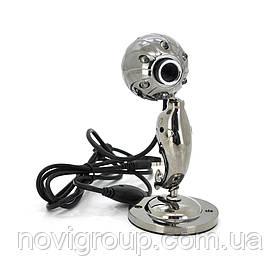 Вебкамера Дельфін з гарнітурою і підсвічуванням, 640 × 480, корпус метал, Bronze, Box