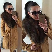 """Пальто женское """"Вамп 45"""" рыжее,кашемировое пальто"""