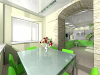 Интерьер кухня гостинная