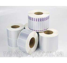 Термоетікетка PTM001 25 x 10, три ряди, кількість етикеток в ролику-до 10000 шт, Silver
