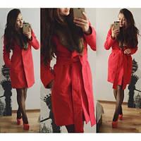 """Пальто женское """"Вамп 45"""" красное,кашемировое пальто"""