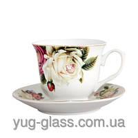 Сервис чайный  фарфоровый  подарочный 12 предметов , 6 персон  на подвеске