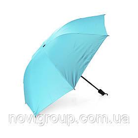 Напівавтоматична парасолька, D-96см, захист від сонця, UV (99%), захист від дощу, каркас - Al + Fe, Blue