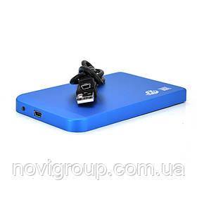 "Кишені 2,5 ""корпус метал, інтерфейс USB2.0 / SATA, Blue"